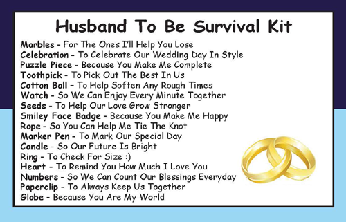 Husband To Be Gift: Husband To Be Survival Kit In A Can